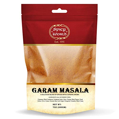 Spicy World Garam Masala 7-Ounce (15 Premium Spice Blend) - Salt Free
