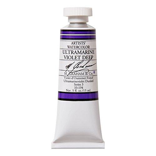 M. Graham 1/2-Ounce Tube Watercolor Paint, Ultramarine Violet Deep