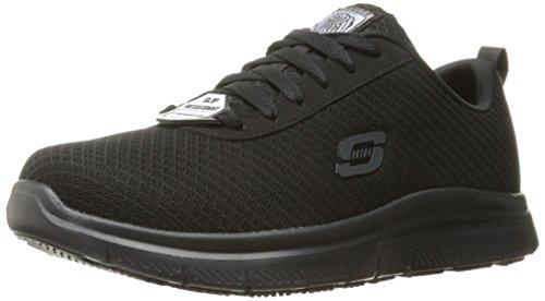 Skechers for Work Men's Flex Advantage Bendon Work Shoe, Black, 11 D(M) US
