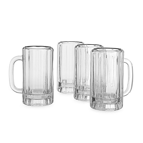 Thick, Decagonal, Dailyware 16 oz. Beer Mug (Set of 4)