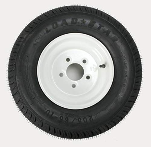 Kenda Trailer Tire/Wheel Assembly - 6-Ply Rated/Load Range C - 205/65-10 - 5 Hole Rim 3H390