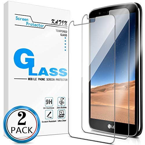 KATIN LG Stylo 3 Plus Screen Protector - [2-Pack] (Japan Tempered Glass) for LG Stylo 3 Plus Screen Protector Anti-Scratch, Bubble Free with Lifetime Replacement Warranty