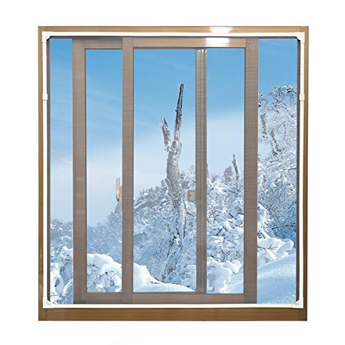 Magnetic Window Insulation Kit - Heavy Duty Window Insulation Film with Full Frame Magnetic Strip Size Up to 72'x 48' Max Warm in Winter and Cool in Summer