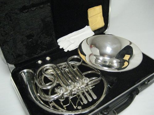 OPUS USA by Ktone Professional Silver Double French Horn Brand New