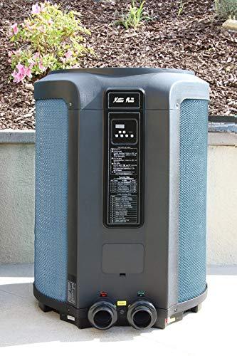 XtremepowerUS Super Quiet 65,000BTU Heat Pump Titanium Swimming Pool Heat Pump & Spa Heater Digital LED Heat Up Pool