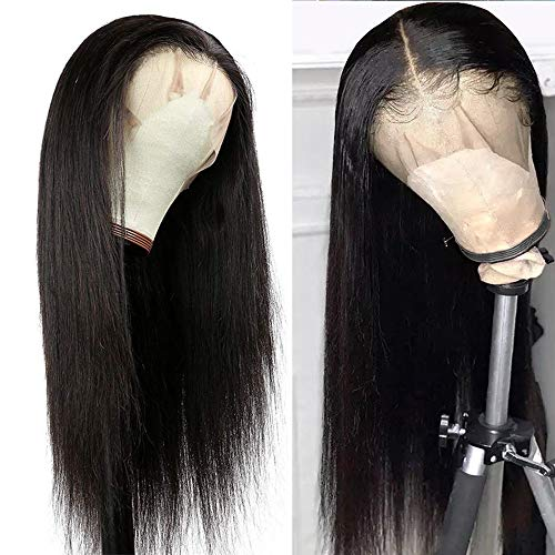 Straight Lace Front Wig Human Hair 13x4 Pre Plucked Lace Wigs for Women 20 inch Virgin Straight Hair Lace Frontal wigs with Baby Hair 150% Density