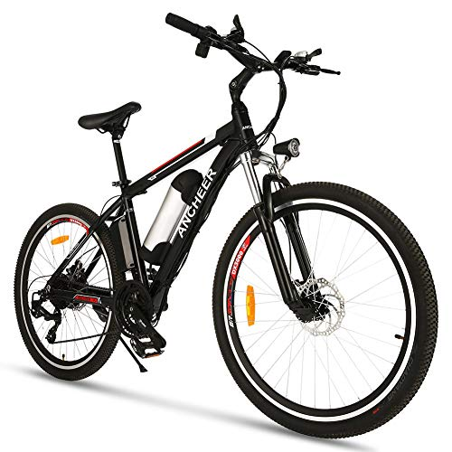 26 inch Electric Bike for Adults, Commuting Ebike with 12AH/8Ah Battery, 500W/250W Motor Electric Mountain Bike, and Professional 21 Speed Gears