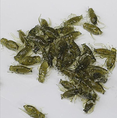 Bluenet Soft Baits Fishing Lures 2.5cm Insect Baits Cricket Artificial Baits Fishing Tackle Accessories 36pcs/lot