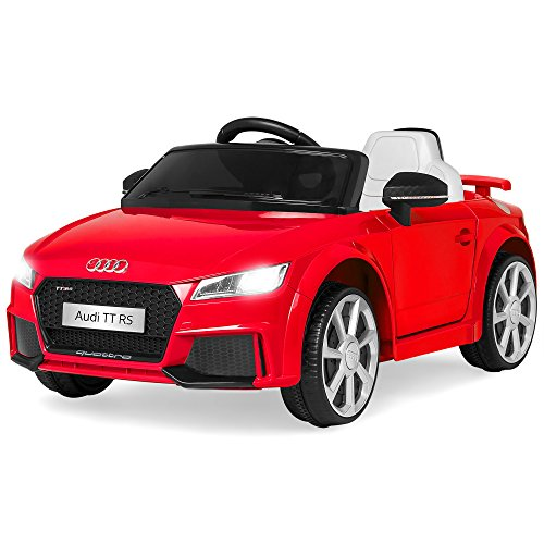 Best Choice Products 6V Kids Licensed Audi TT RS Ride On Car w/ Parent Control, 2 Speeds, Suspension, AUX Input - Red