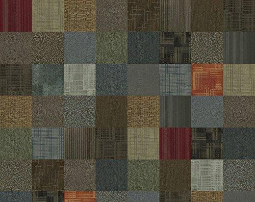 4urFloor Assorted Carpet Tile 24' x 24' 96sqft 24 Peel and Stick Tiles
