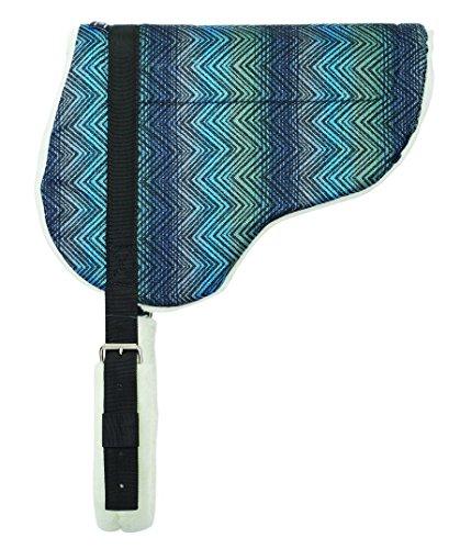Weaver Leather Herculon Bareback Pad with Merino Wool Fleece Bottom, Blue