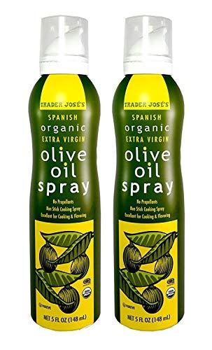 Trader Joe's Jose's Spanish Organic Extra Virgin Olive Oil Non Stick Cooking Spray 5 Fl. Oz. (2-Pack)