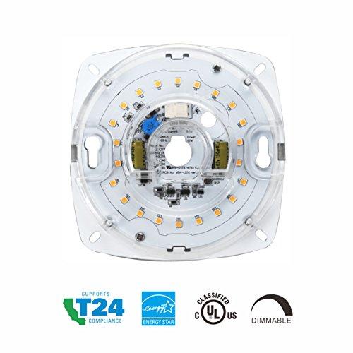 Silverlite 4',17W,4000K,1200LM,120V,CRI90,Dimmable LED Light Engine,Retrofit Light Kit for Ceiling Flush Light,Ceiling Fan Light,Pendant,Lantern,Garden Light, 5.39' Corner to Corner