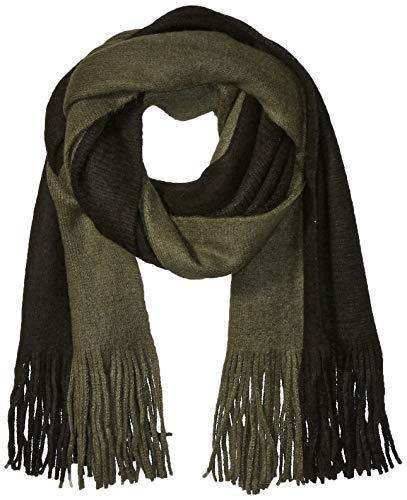 Steve Madden Men's Colorblock Scarf, black/Green, One Size