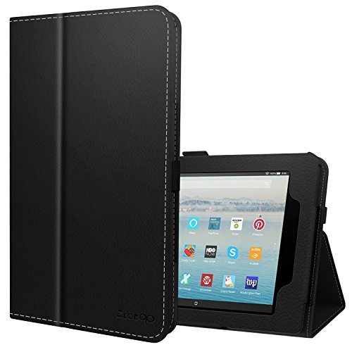 Ztotop Case for Fire HD 10 (2019/2017,9th/7th Gen) -Smart Leather Cover Slim Folding Stand Case with Auto Wake/Sleep for 10.1 Inch Tablet.Black