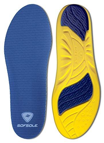 Sof Sole Insoles Men's Athlete Performance Full-Length Gel Shoe Insert, Men's 9-10.5 Blue