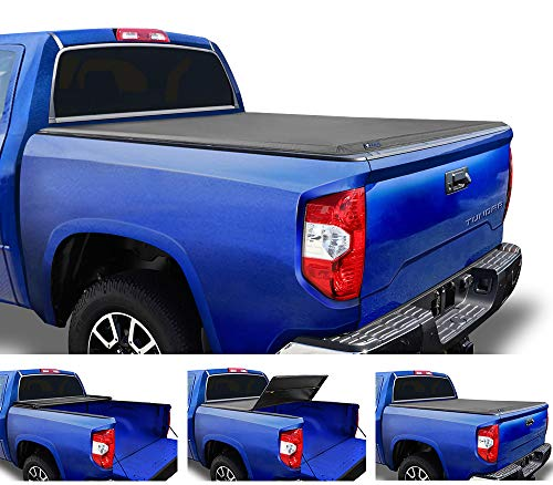 Tyger Auto T3 Soft Tri-Fold Truck Bed Tonneau Cover for 2007-2013 Toyota Tundra Fleetside 5.5' Bed TG-BC3T1032