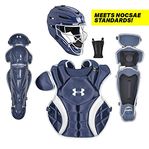 Under Armour PTH Victory Series Catching Kit, Meets NOCSAE, Ages 9-12, Navy Blue