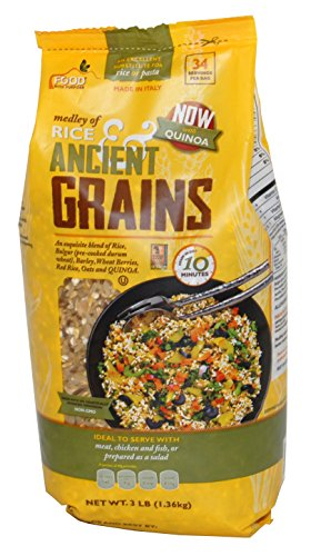 Medley of Rice & Ancient Grains 3lbs (Rice, Bulgur, Barley, Wheat Berries, Red Rice, Oats and Quinoa) Cook Time 10 Min