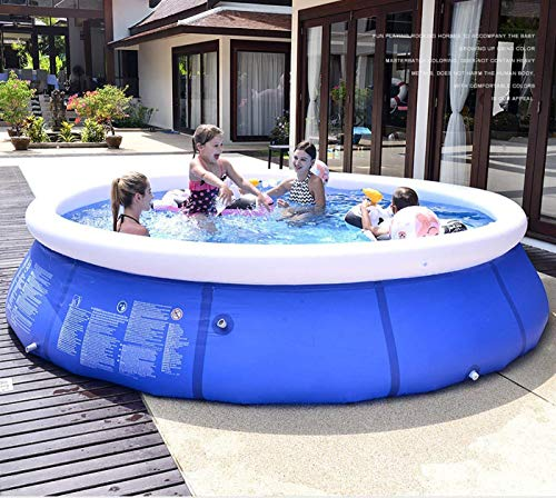 Jiur Inflatable Swimming Pools Above Ground, 95in x 25in Family Pool for Kids and Adults, Quick Set Ring Blow Up Lounge Pool for Outdoor Backyard Garden, Summer Water Party
