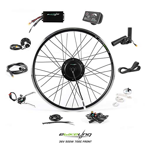 EBIKELING 36V 500W 26' Geared Front Waterproof Electric Bicycle Conversion Kit (Front/LED/Thumb)