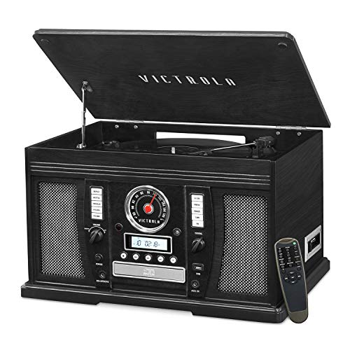Victrola Aviator: 8-in-1 Bluetooth turntable, Black