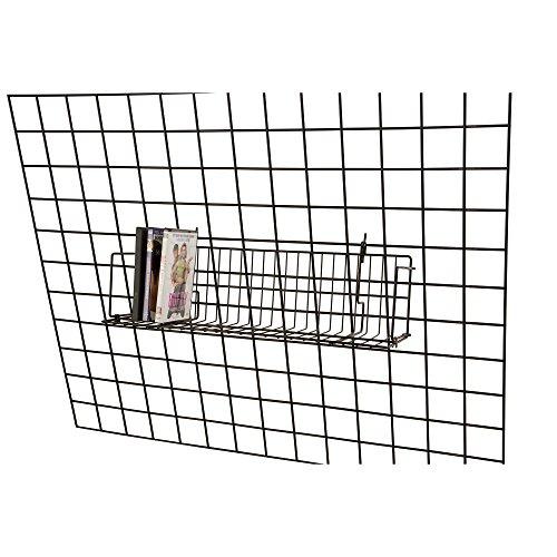 Lot of 6 Retail Black CD/DVD/Cassette Shelves For Grid 24'L x 6'D x 6½'H