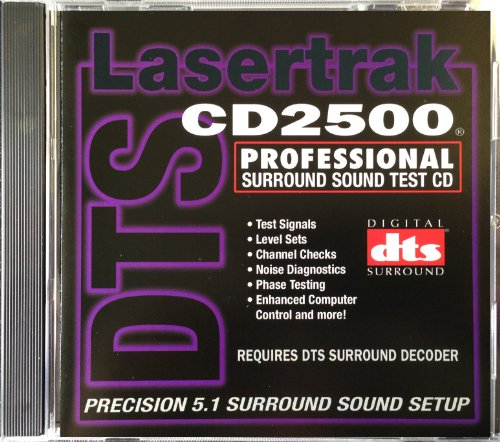 Surround Sound Test CD (DTS) - Lasertrak CD2500 - For surround and home theater sound setup