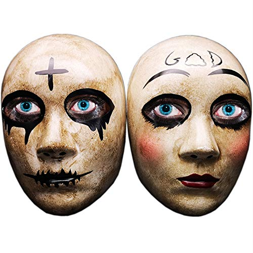 Grey Cross & GOD Horror Killer Purge mask Men,The Purge Anarchy Movie,Halloween Couple Mask, Masquerade Party