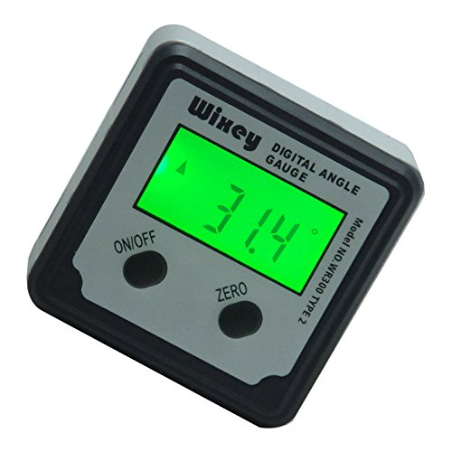 Wixey Digital Angle Gauge Type 2 with Magnetic Base and Backlight