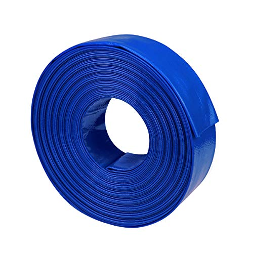 augtarlion 1 1/2' Dia x 100 ft Backwash Hose for Swimming Pools, Heavy Duty Reinforced Lay Flat Discharge Hose for Water Transfer Applications