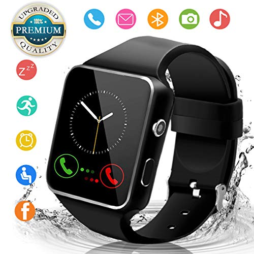 Smart Watch,Smartwatch for Android Phones, Smart Watches Touchscreen with Camera Bluetooth Watch Phone with SIM Card Slot Watch Cell Phone Compatible Android iOS Samsung Phones Men Women