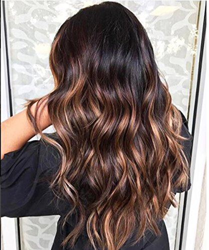Fenjun Brazilian Hair Full Lace Wigs Ombre 1B/33#/30# Highlight Color Virgin Hair Wigs with Baby Hair 150% Density Wet and Wavy Full Lace Human Hair Wigs for Women (22inch, Full Lace Wig)