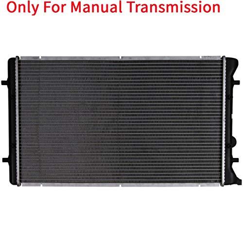 ASL CU2265 26mm Core Complete MT Radiator Manual Transmission Assembly without Oil Cooler for Quattro TT GTI Golf Golf City Jetta Jetta City 1.8L 1.9L 2.0L 2.8L 3.2L L4 V6