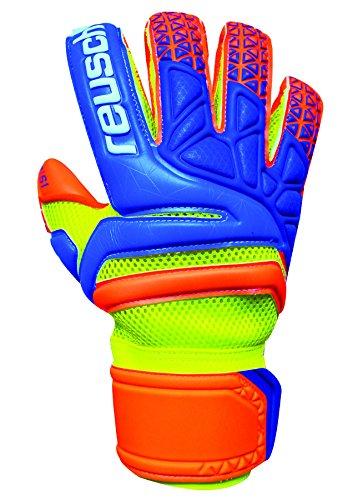 Reusch Soccer Prisma Prime S1 Evolution Finger Support Goalkeeper Gloves, Orange, Size 8