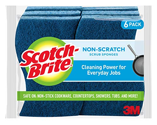 Scotch-Brite Non-Scratch Scrub Sponges, Stands Up to Stuck-on Grime, 6 Scrub Sponges