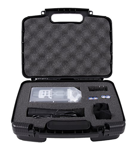 Casematix Portable Recorder Carrying Travel Hard Case with Dense Foam fits Zoom DAt Recorder, H1, H2N, H5, H4N, H6, F8, Q8 Handy Music Recorders, Charger, Mic Tripod Adapter and Accessories