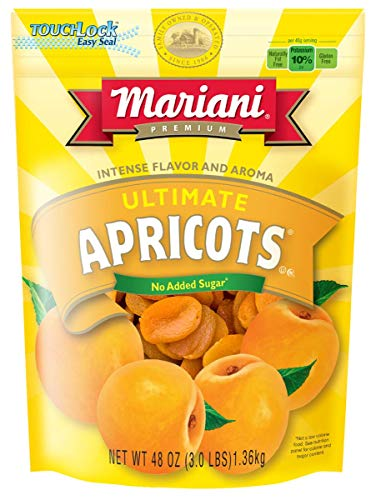 Mariani - Ultimate Apricots (48oz - Pack of 1) - Good source of Vitamin E and Potassium - Healthy Snack for Kids & Adults