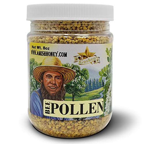 Goshen Honey Amish Extremely BEE POLLEN Whole Granules Bee Bread - 100% Pure Natural Health Benefits - Unfiltered | 8 Oz