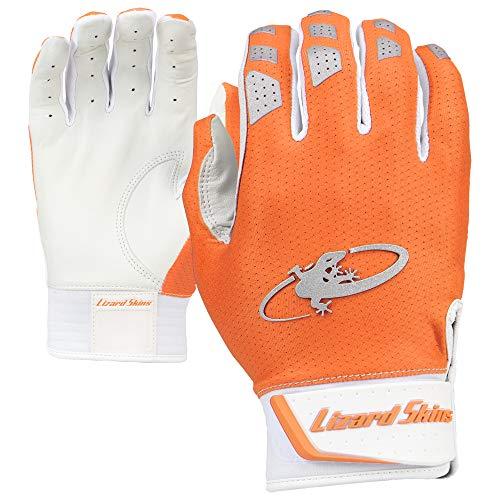 Lizard Skins Komodo V2 Youth Baseball Batting Gloves (Blaze Orange, Large)