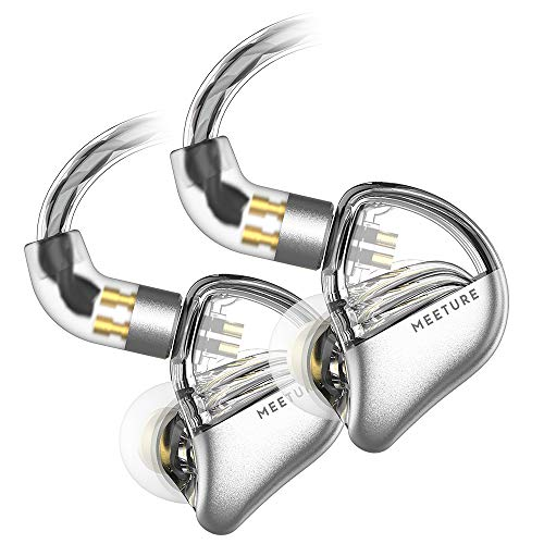 SIMGOT MT3 Hi-Res in-Ear Monitor Headphones, IEM Earphones with Detachable Cable, Noise-Isolating Musician Headset with Dynamic Driver, Design HiFi Earbuds for Smartphones and Audio Players (Clear)