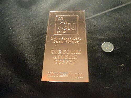 COPPER BAR- 1 LB.-RANDOM DESIGN- .999 FINE- 1 POUND COPPER