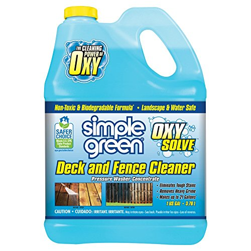 Simple Green Oxy Solve Deck and Fence Pressure Washer Cleaner - Concentrate 1 Gal