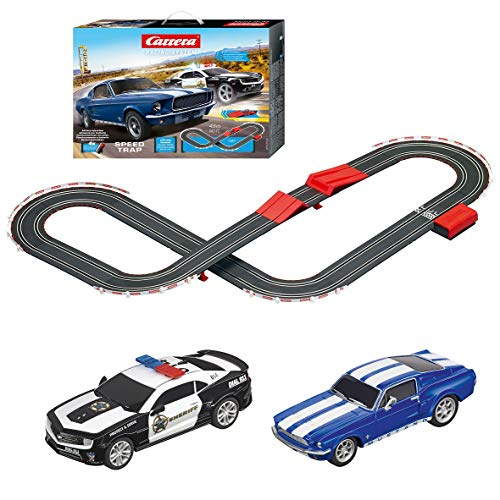 Carrera 63504 Speed Trap Battery Operated 1:43 Scale Slot Car Racing Track Set with Jump Ramp