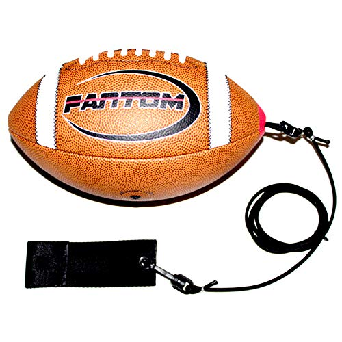 Fantom Throw Football Trainer - Direct Return Football Trainer - Practice Throwing & Catching Indoors/Outdoors (Pee-Wee (Elementary School - Ages 9+))