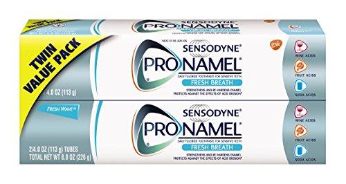 Sensodyne Pronamel Fresh Breath Enamel Toothpaste for Sensitive Teeth, to Reharden and Strengthen Enamel, Fresh Wave - 4 Ounces (Pack of 2)
