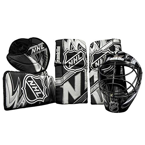Franklin Sports 12436 NHL Mini Hockey Goalie Equipment with Mask Set