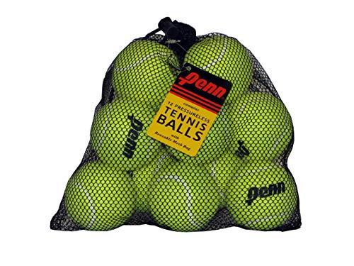 Penn Pressureless Tennis Balls - Non-Pressurized Training / Practice Tennis Balls - Mesh Bag of 12