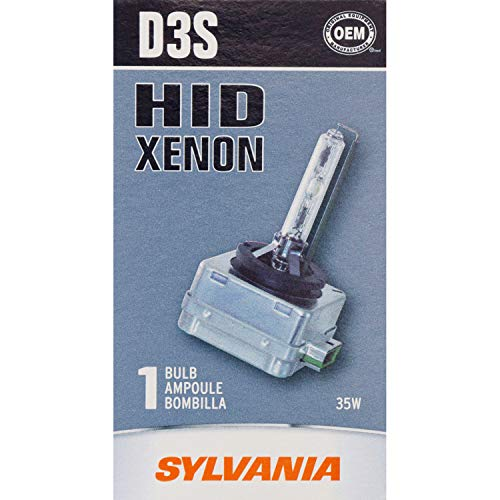 SYLVANIA - D3S Basic HID (High Intensity Discharge) Headlight Bulb - High Performance Bright, White, and Durable Lamp (Contains 1 Bulb)