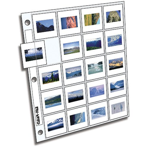 Clear-File Archival-Plus Slide Page, 35mm - 100 Pack